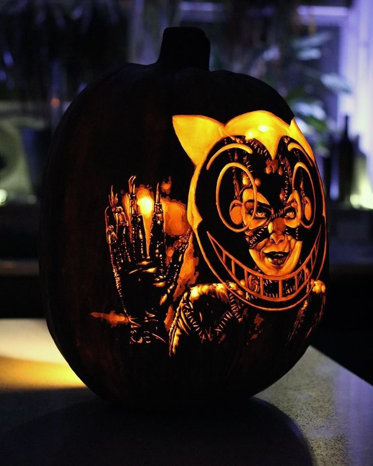 Catwoman Pumpkin carved by Joey Edwards