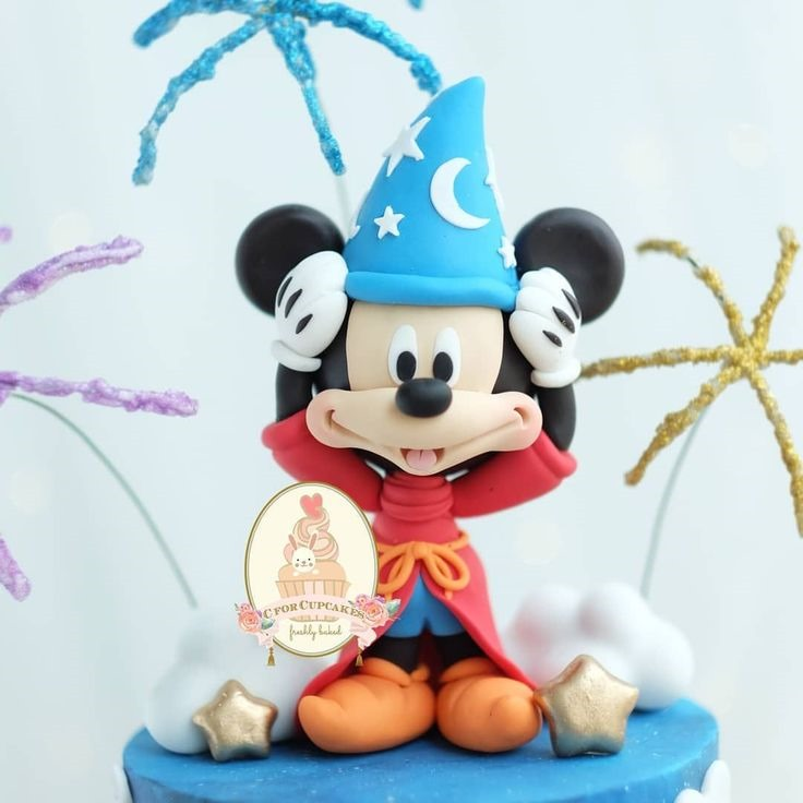 Sorcerer Mickey Mouse Birthday Cake Topper