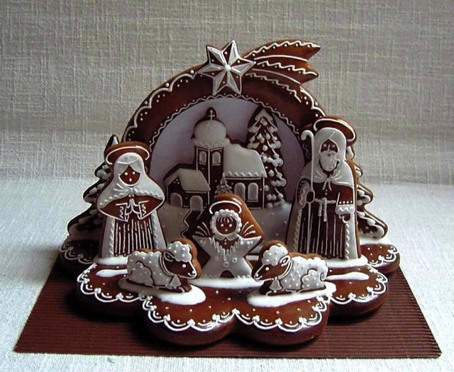 Gingerbread Nativity Cookie