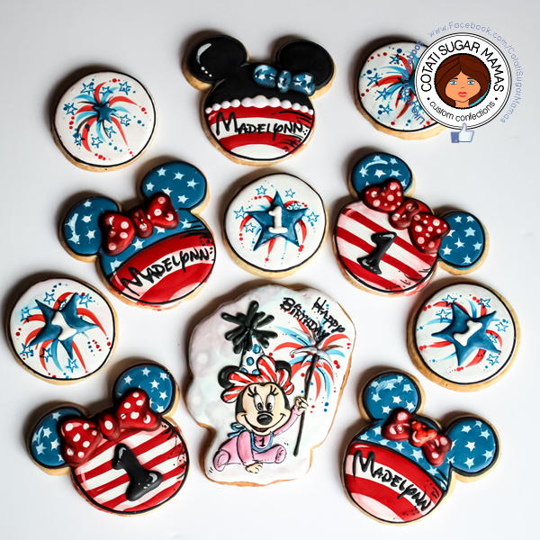 July4th Baby Minnie Mouse Cookies