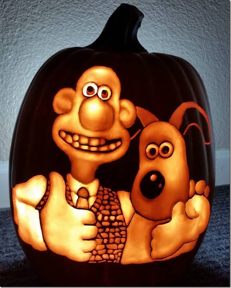 Wallace and Gromit Pumpkin carved by After Dark Pumpkins