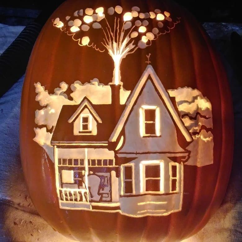 Up Pumpkin carved by Christy Johnson