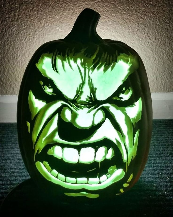 Hulk Pumpkin carved by After Dark Pumpkins