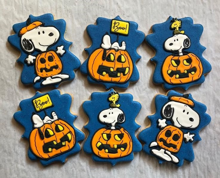 Snoopy Halloween Cookies