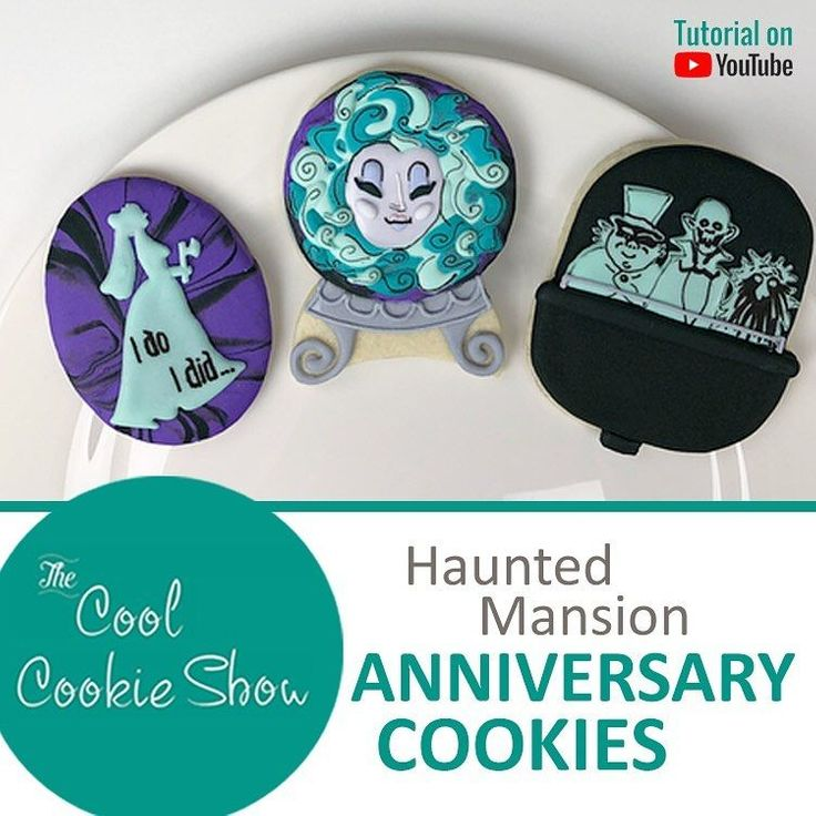 Haunted Mansion Anniversary Cookies