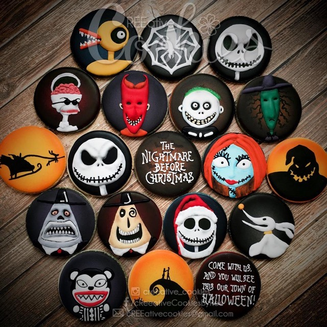 Nightmare Before Christmas Cookies