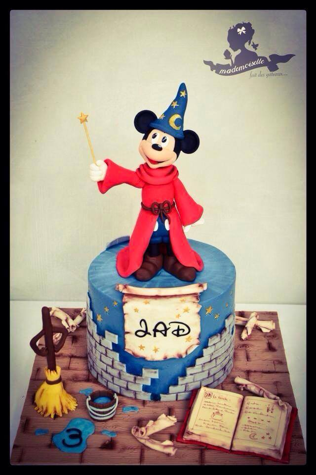 Sorcerer Mickey Mouse 3rd Birthday Cake