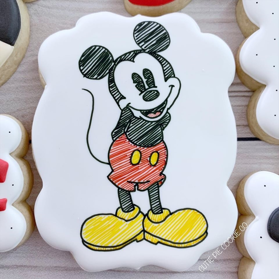 Hand Drawn Mickey Mouse Cookie