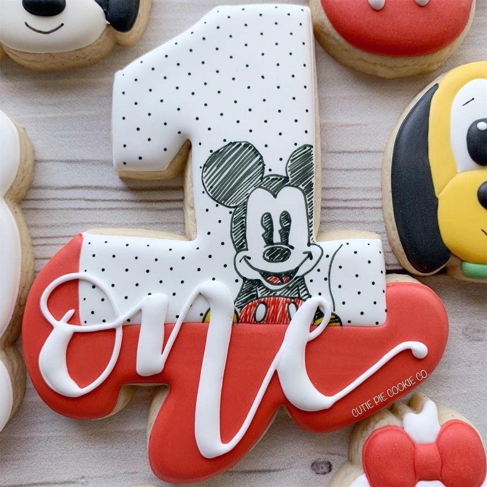 Mickey Mouse 1st Birthday Cookie