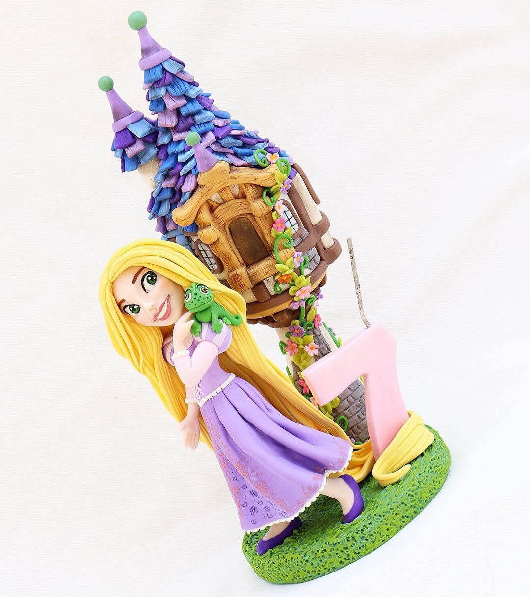 Tangled 7th Birthday Cake Topper