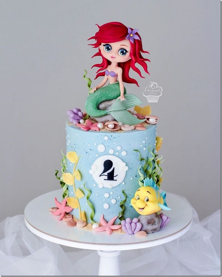 Ariel 4th Birthday Cake created by Caramel Patisserie