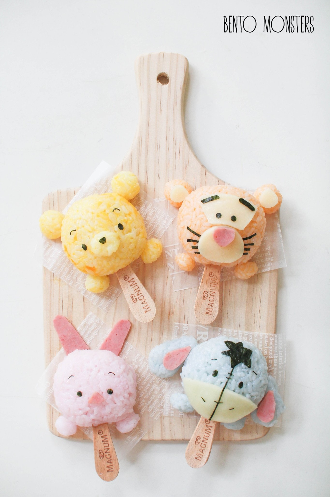 Winnie the Pooh Rice Balls made by Bento Monsters