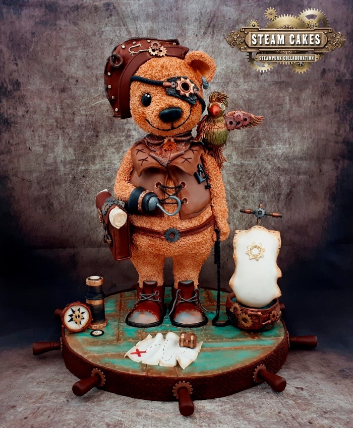 Teddy Bear Pirate Steampunk Cake