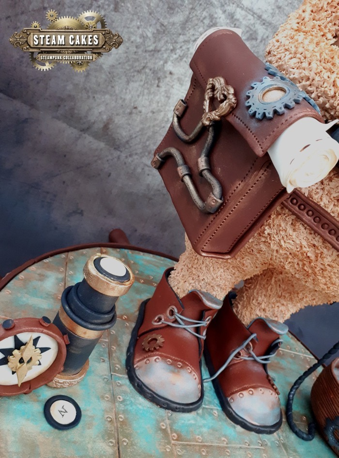 Teddy Bear Pirate Steampunk Cake 4