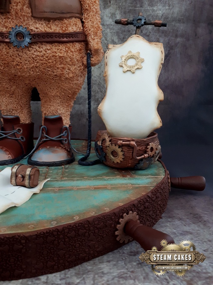 Teddy Bear Pirate Steampunk Cake 3