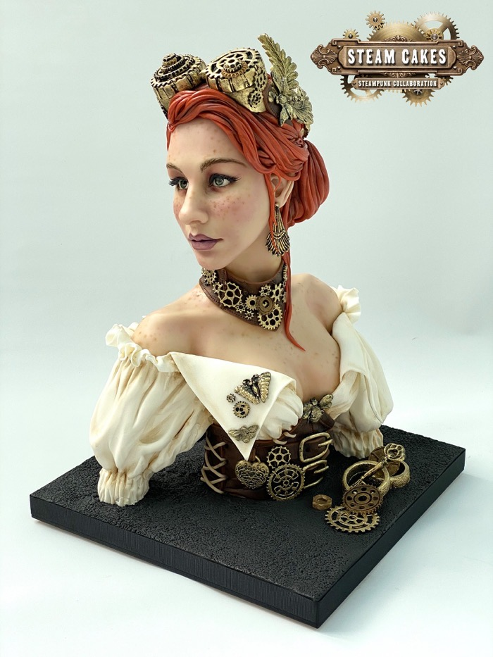 Steampunk Girl Cake