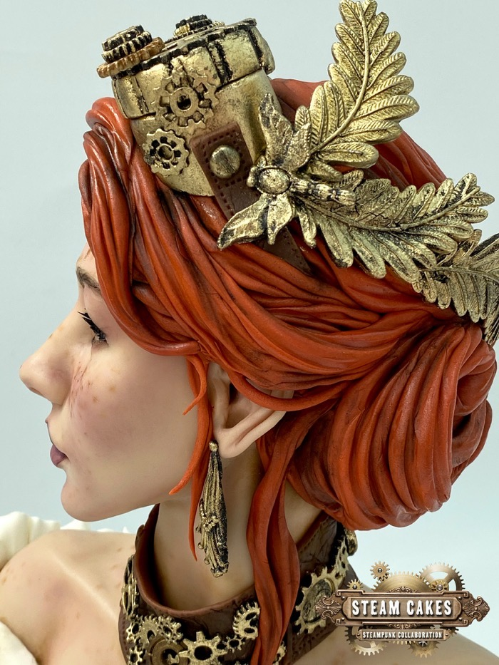 Steampunk Girl Cake 3