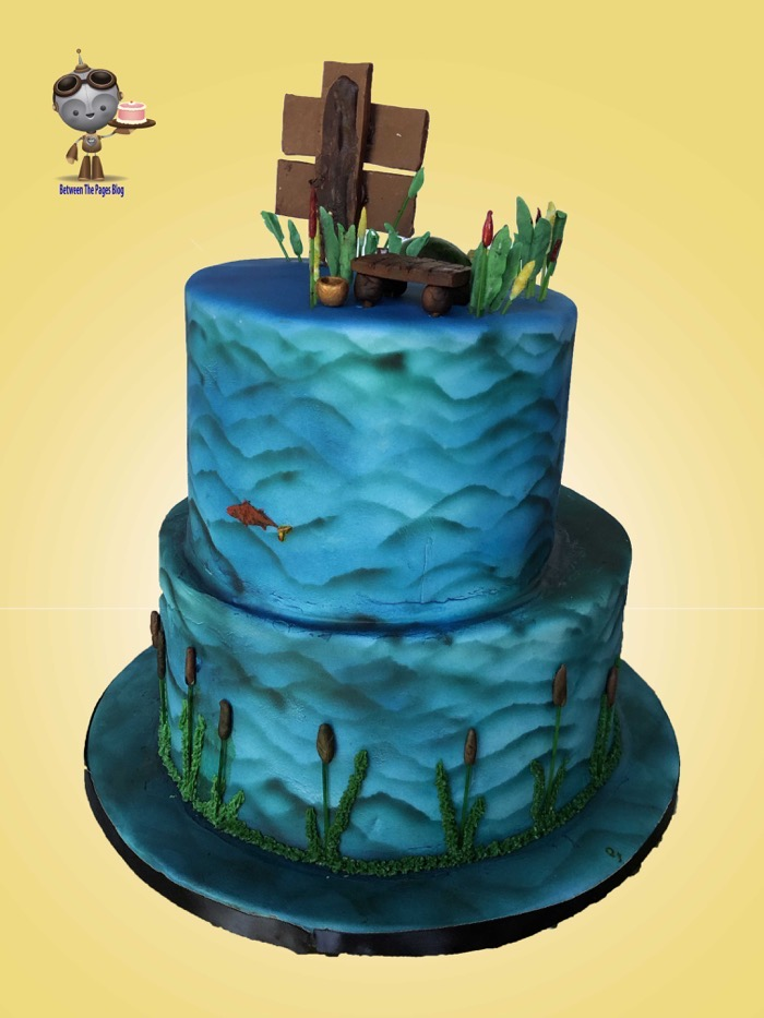 Gone Fishing Cake back l