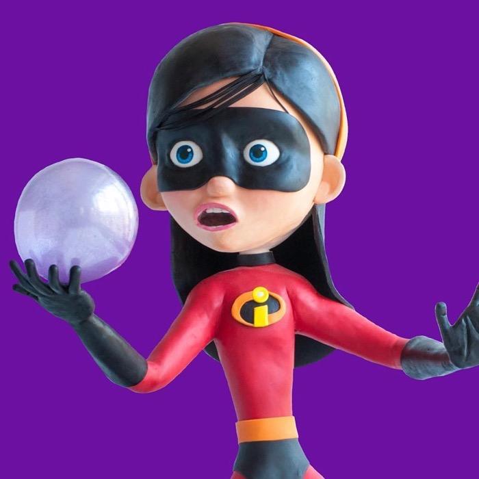 Incredibles Violet Cake 3