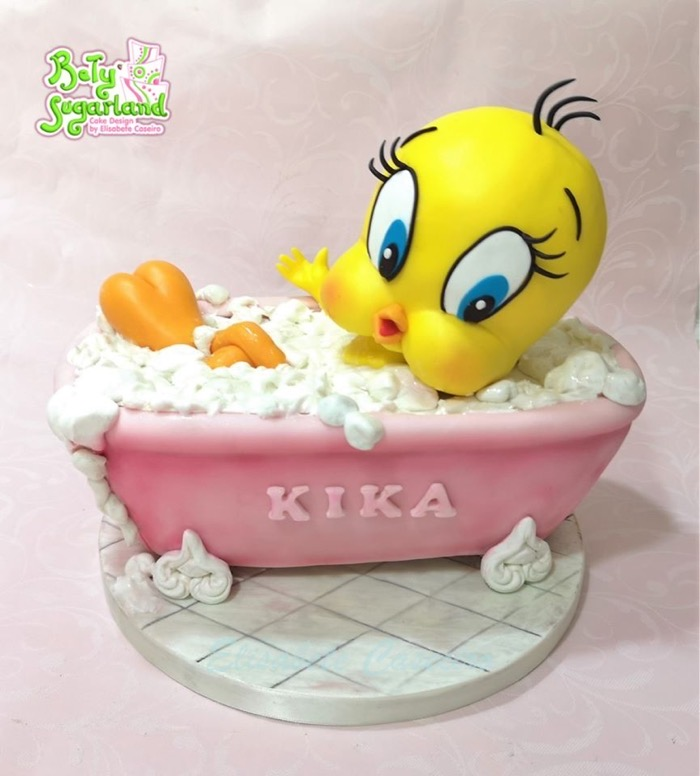 Tweety Tub Cake