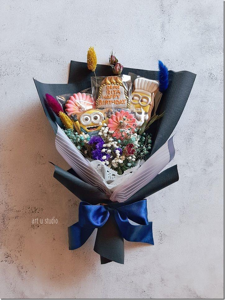 Minion Cookie Bouquet