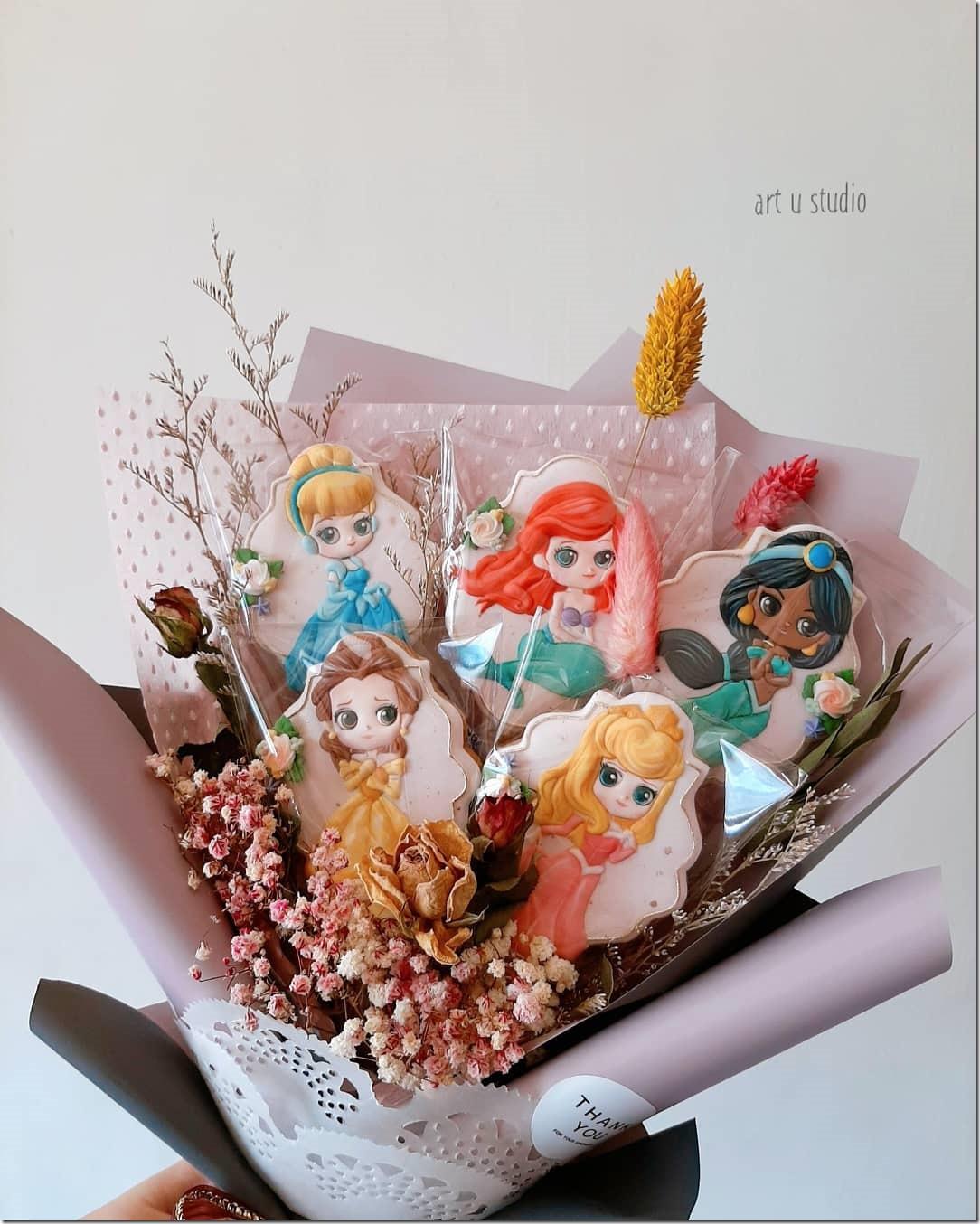 Disney Princess Cookie Bouquet