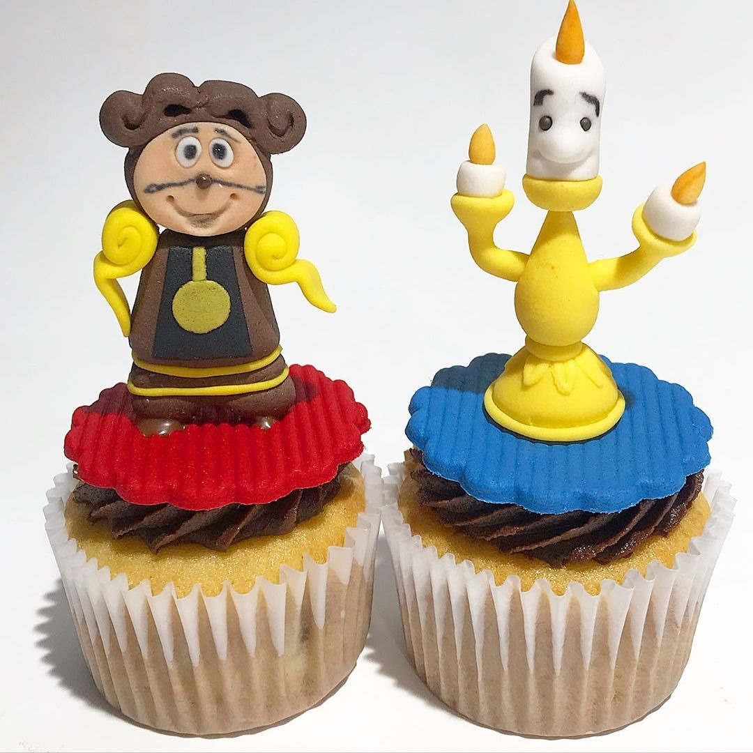 Cogsworth and Lumiere Cupcakes