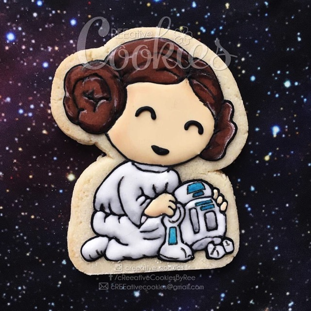 Leia and R2 D2 Cookie