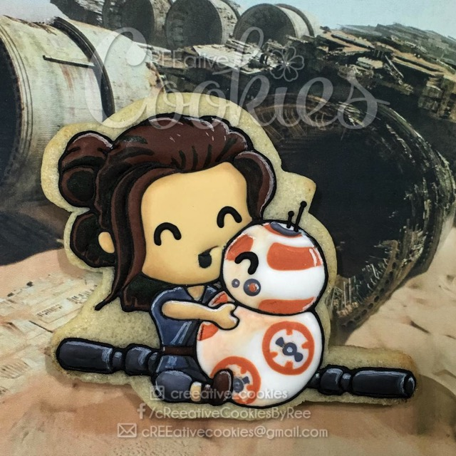 Rey and BB 8 Cookie