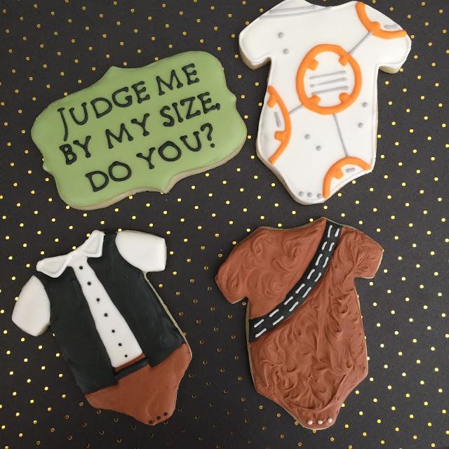 Star Wars Onsie Baby Shower Cookies