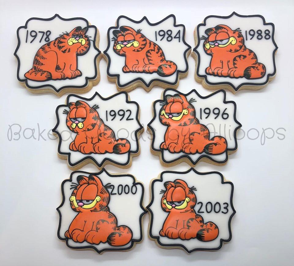 Garfield Through The Years Cookies