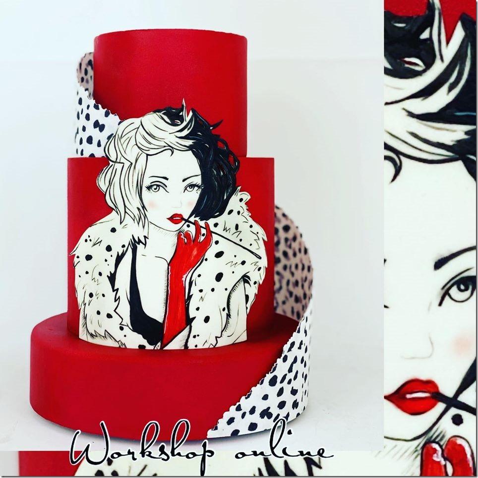 Cruella de Vil Cake