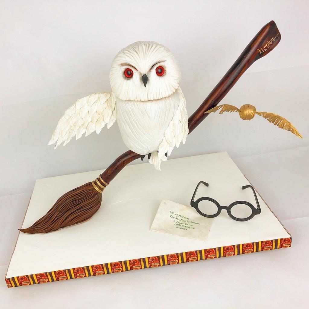 Gravity Defying Hedwig Cake