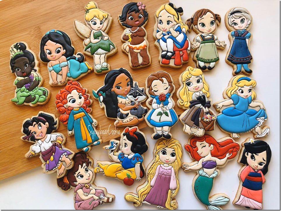 Baby Disney Princess Cookies