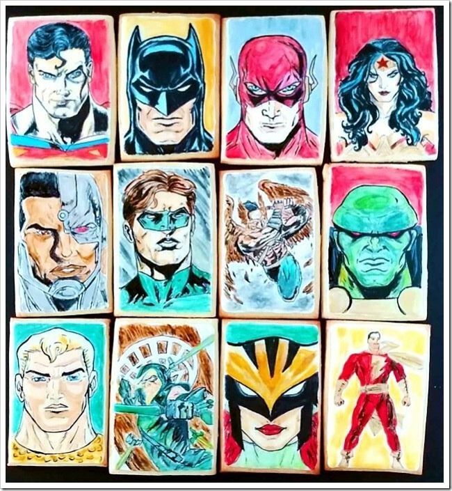 Hand Painted Justice League Cookies