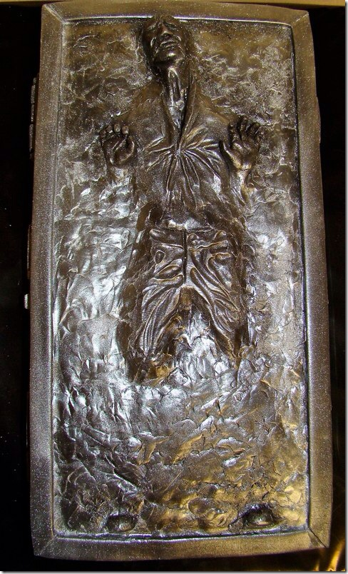 Han Solo Frozen in Carbonite Cake