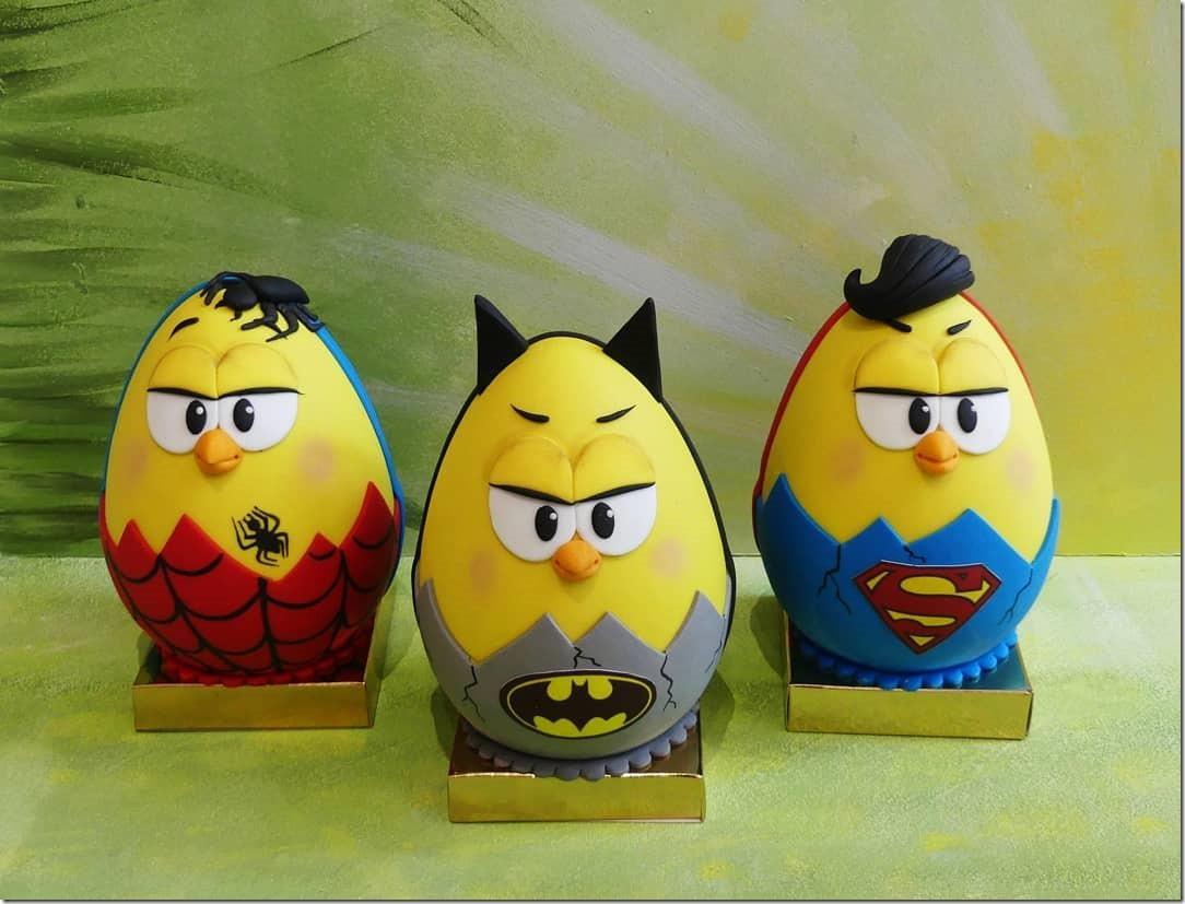 Spider-Man, Batman & Superman Chocolate Easter Eggs