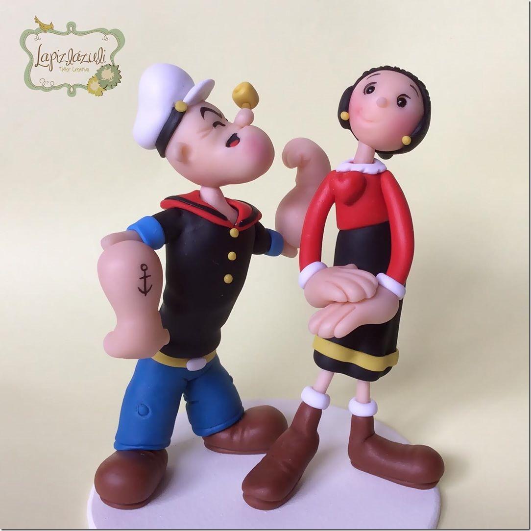Popeye and Olive Oyl Wedding Cake Topper
