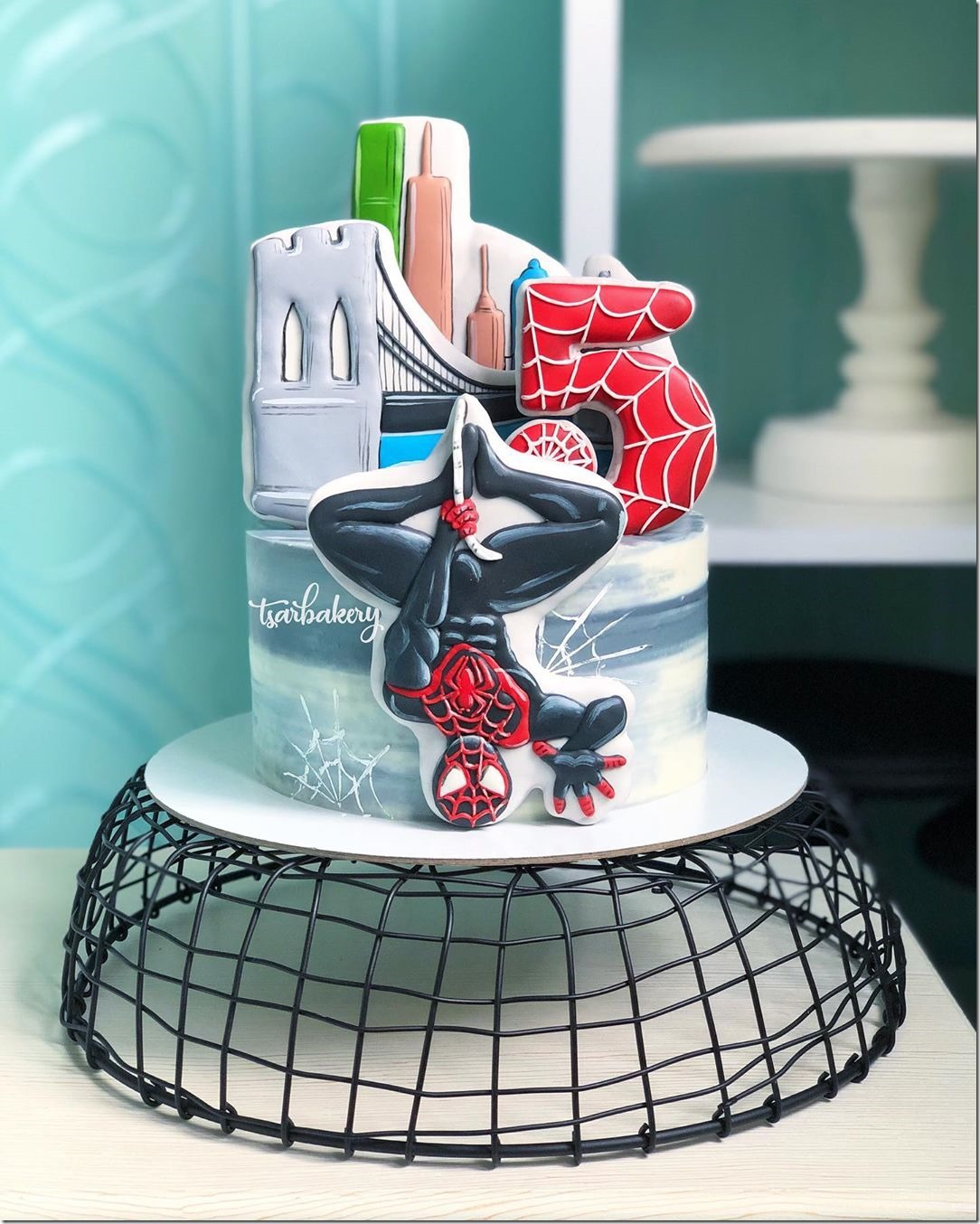 Miles Morales Spider-Man 5th Birthday Cake