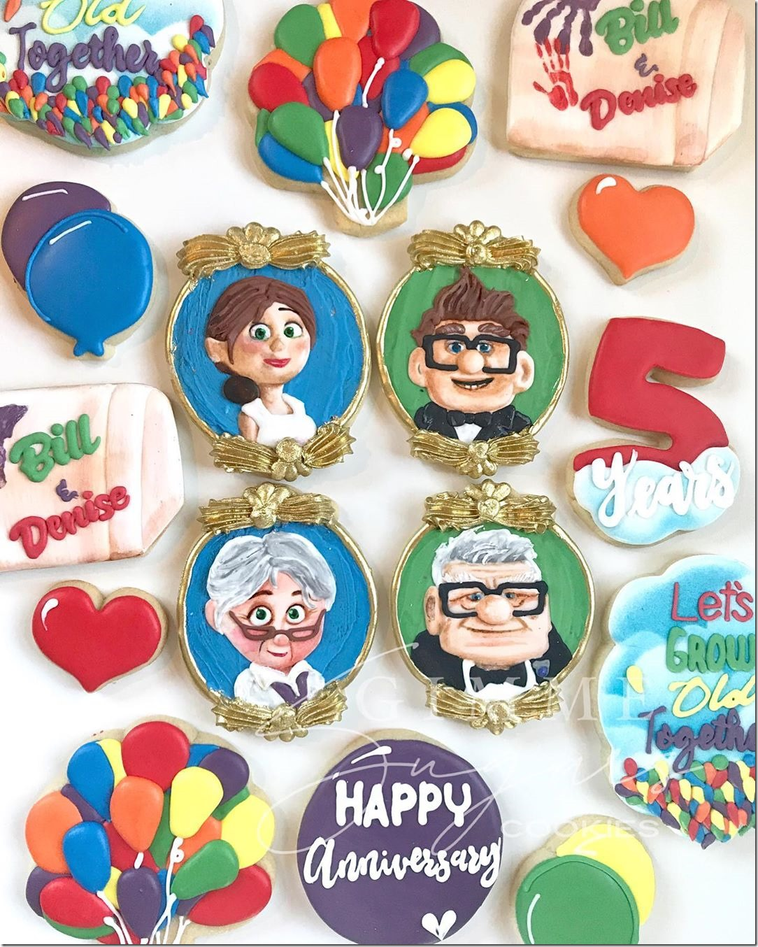 Up 5th Anniversary Cookies
