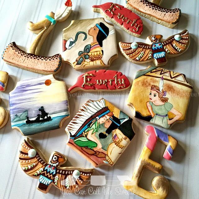 Superb Peter Pan, Wendy & Princess Tiger Lily Cookies
