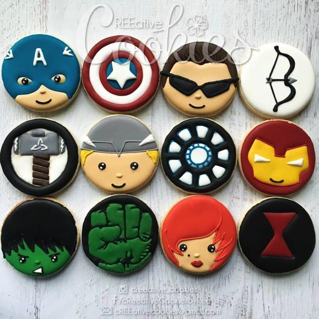 Marvel Superhero Cookies