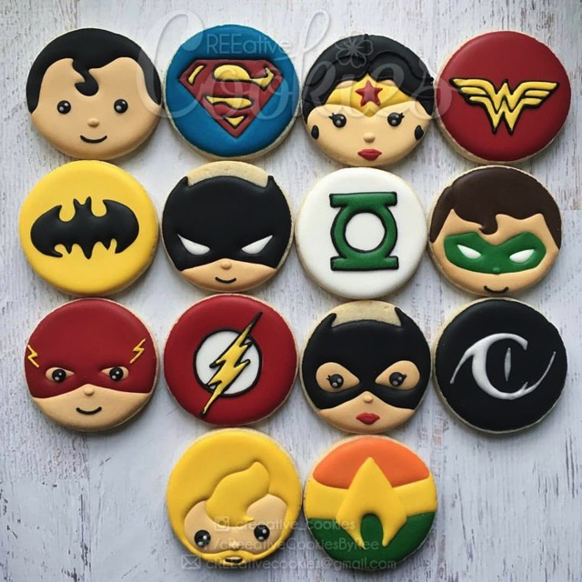DC Superhero Cookies
