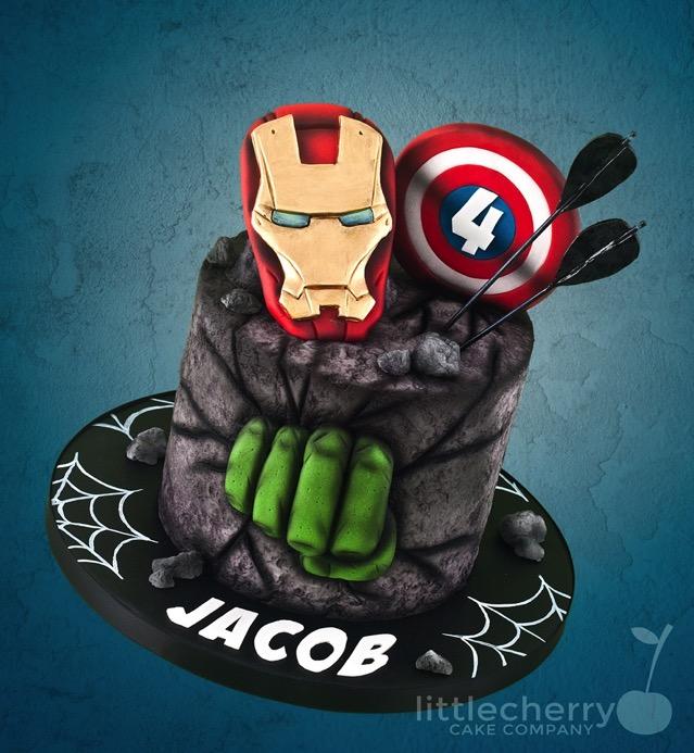 Avengers 4th Birthday Cake