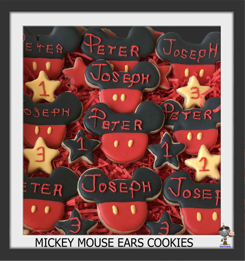 Mickey Mouse Ears cookies