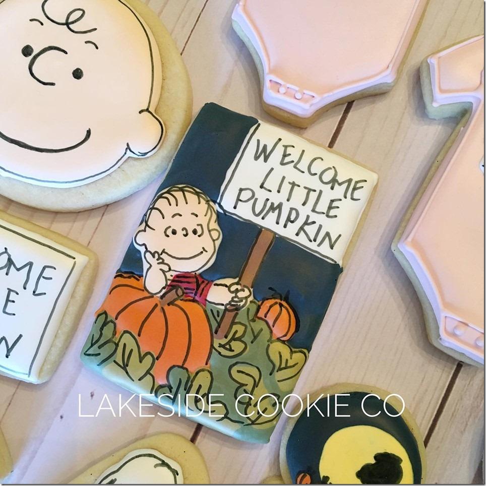 Halloween Linus Pumpkin Patch Cookies