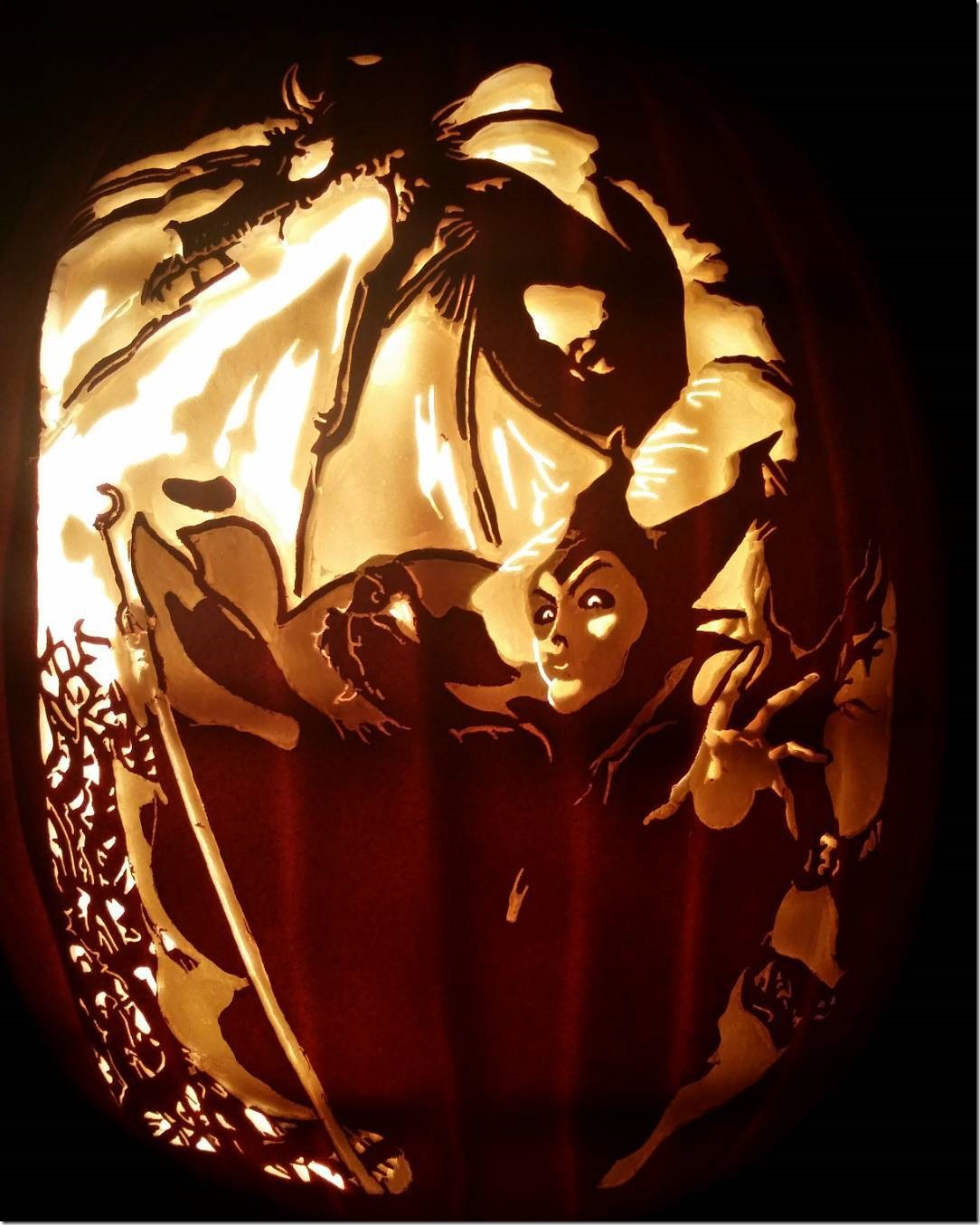 Maleficent Pumpkin Carving