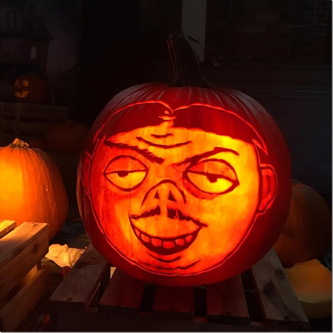 Gomez Addams Pumpkin Carving