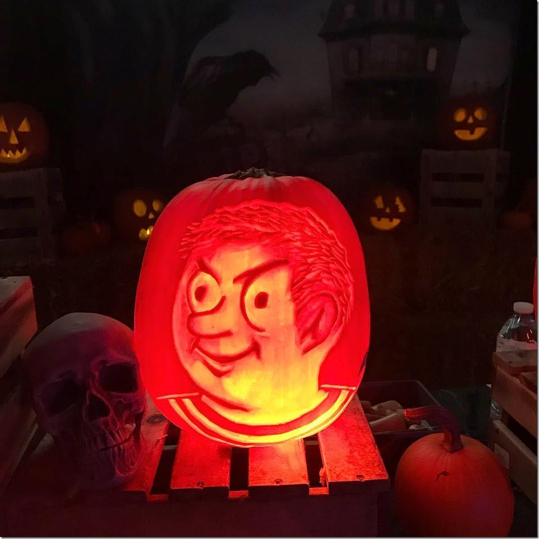 Pugsley Addams Pumpkin Carving