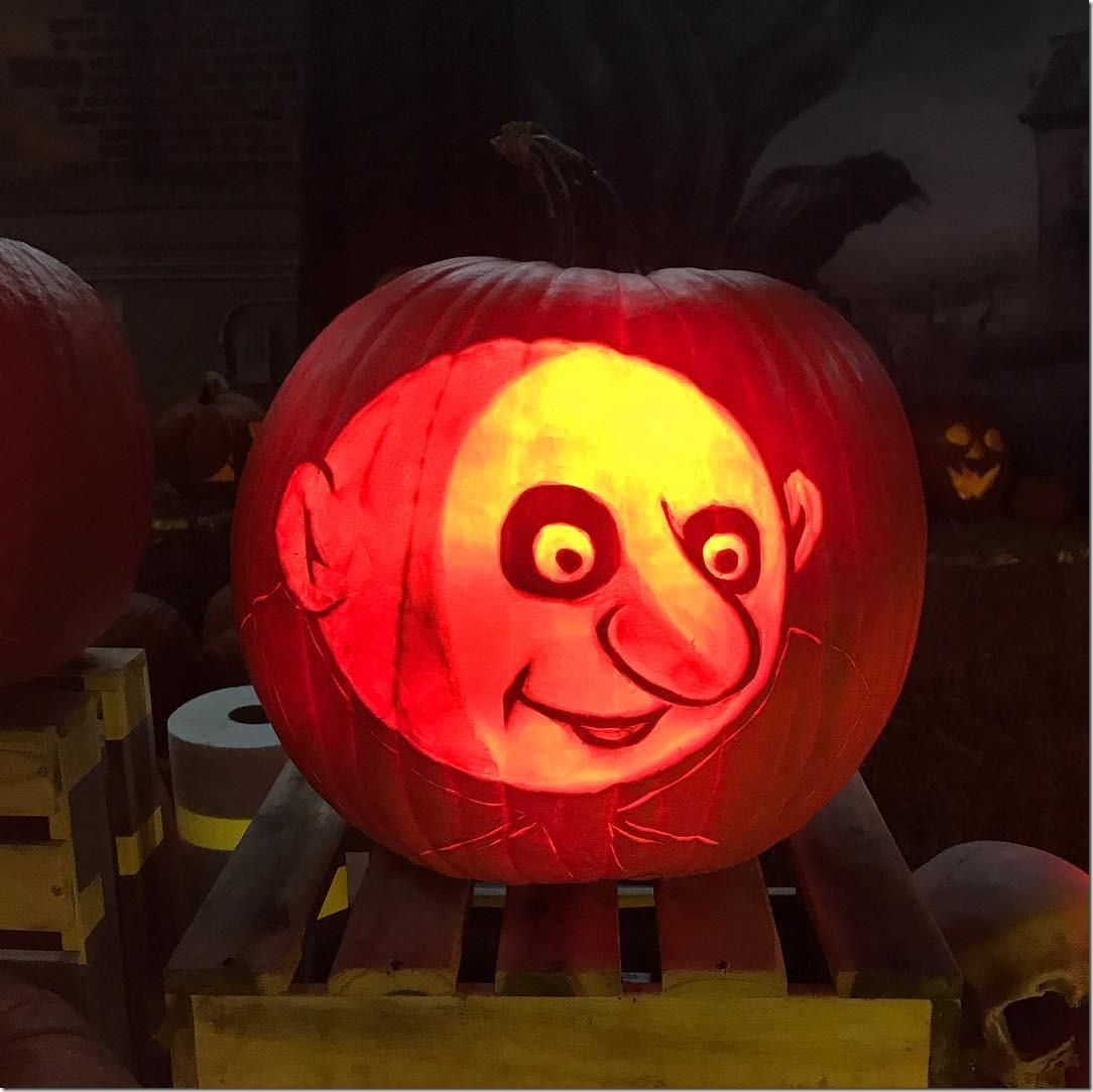 Uncle Fester Pumpkin Carving